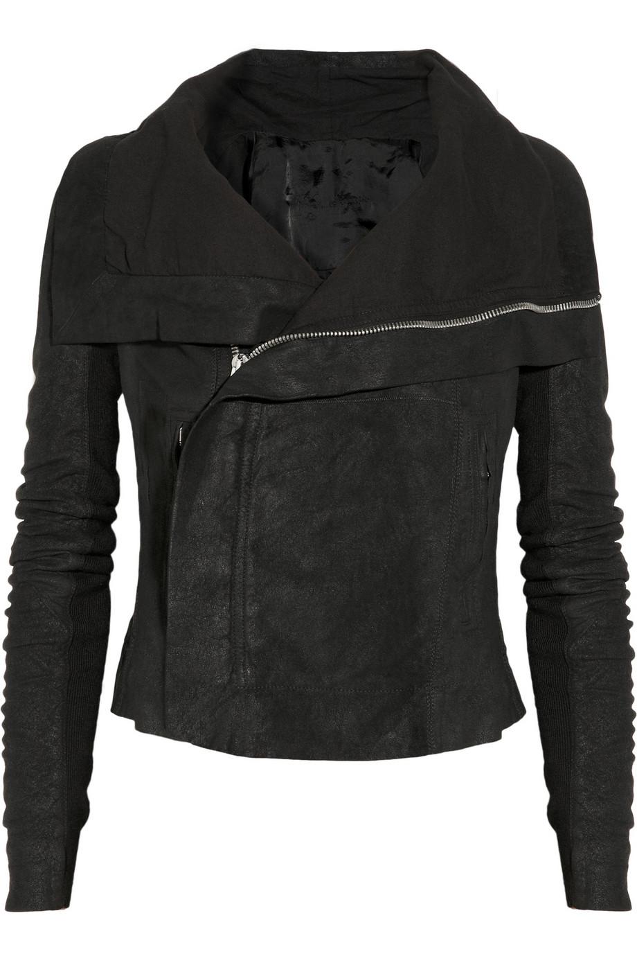 Rick Owens biker jacket - $2,620 at  Net-a-porter