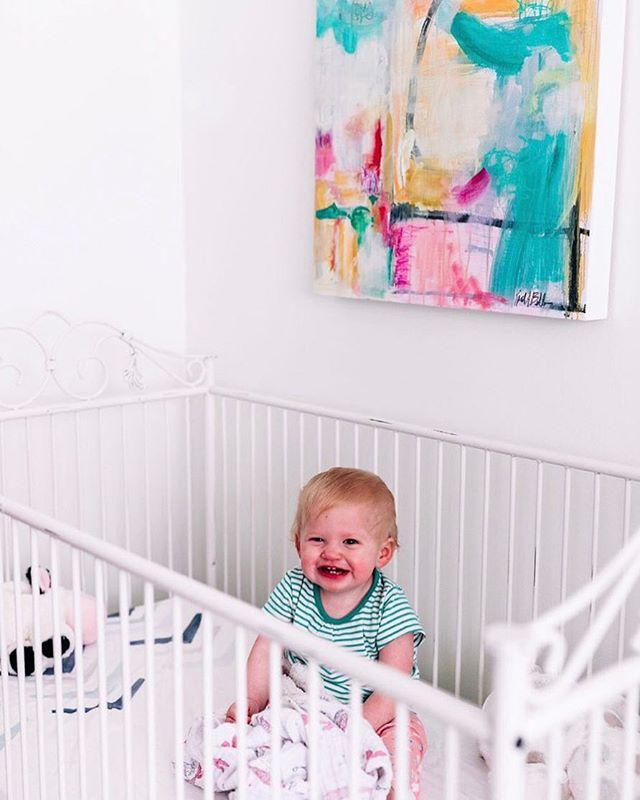 We all need a pop o color for the loved one in our lives ❤️ Install and photo by @everettkingconsulting @_emilybolt 🥂 . . . . .  #kiahannbellowsart #yeahthatgreenville #visitgreenvillesc #artistsofartandlight #painting #abstractartist #landscapeartist #artistoninstagram #studio #studiolife #artistinthestudio #verilymoment #paintingonpanel #buyart #buyoriginalart #buyartwork #mybeautifulmess #thenewbohemians #designsponge #sodomino #westelm #simplystyleyourspace #littlestoriesofmylife #seekinspirecreate