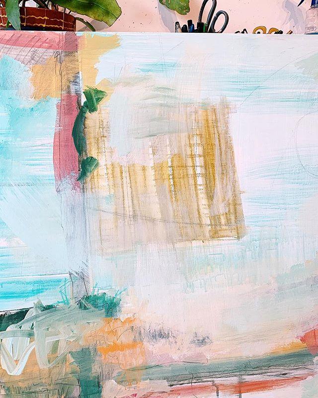 Part of a piece, painting and drawing combined. .and a little scrubbing too .. . . . #kiahannbellowsart #abstractlandscapes #galleryartist #process #mixedmedia #art #artistsoninstagram #dscolor #artinamerica #artinspiration #inspo #sodomino #originalart