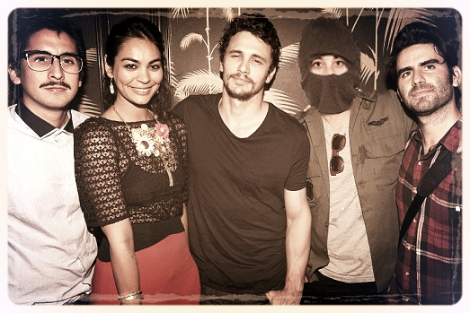 Omar Cuniga, Shruti Ganguly,  James Franco,UBIQ and Alexis Gambis at the Tar after party in NYC, August 5th, 2013.