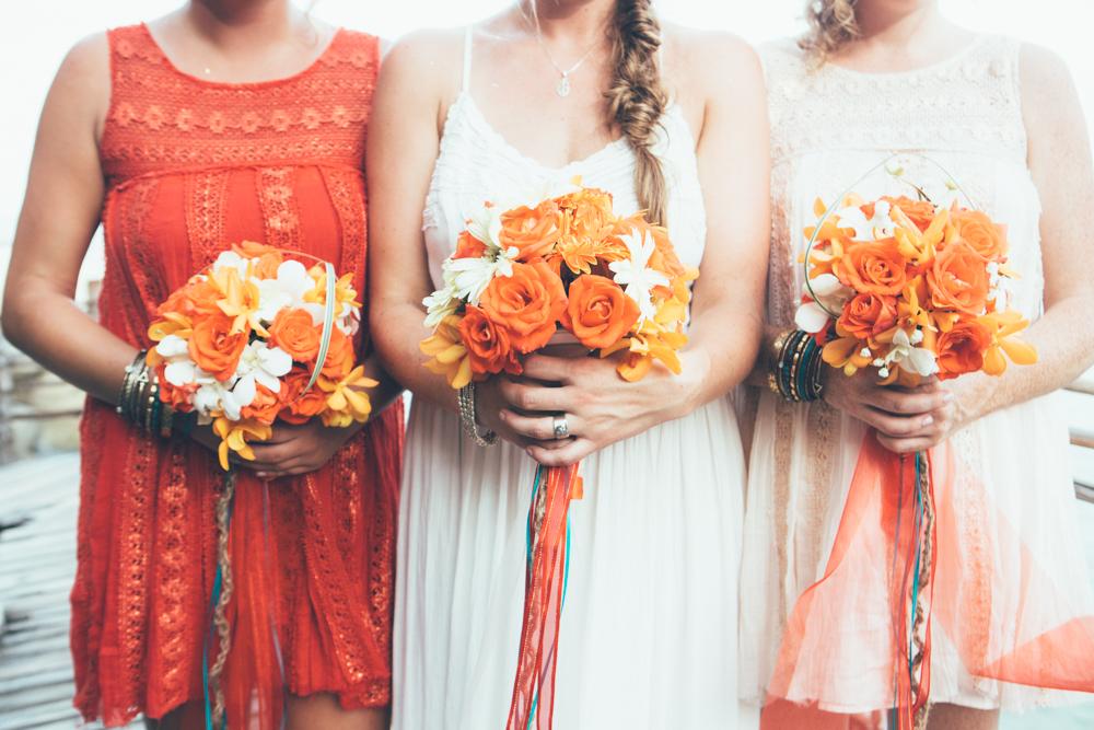 pretty bouquets haad yuan, thailand wedding