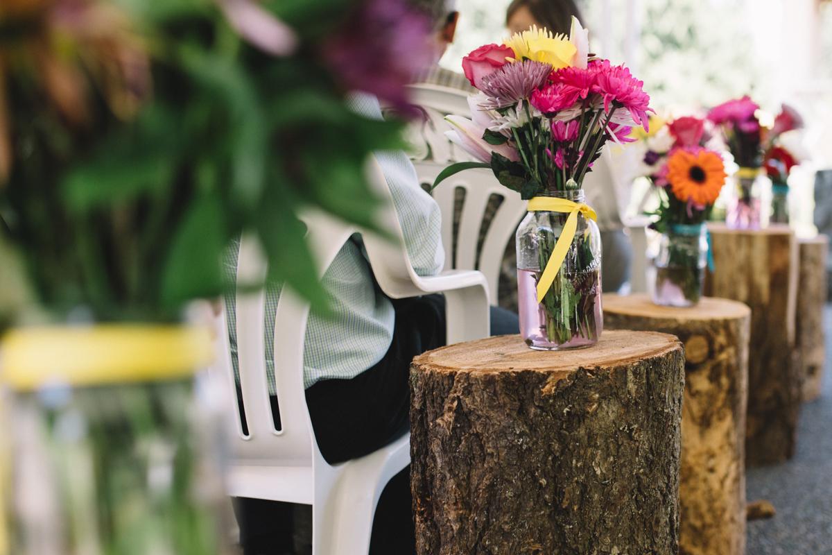Wedding venue decorations King Francis Park Forest Wedding Ceremony Vancouver Island