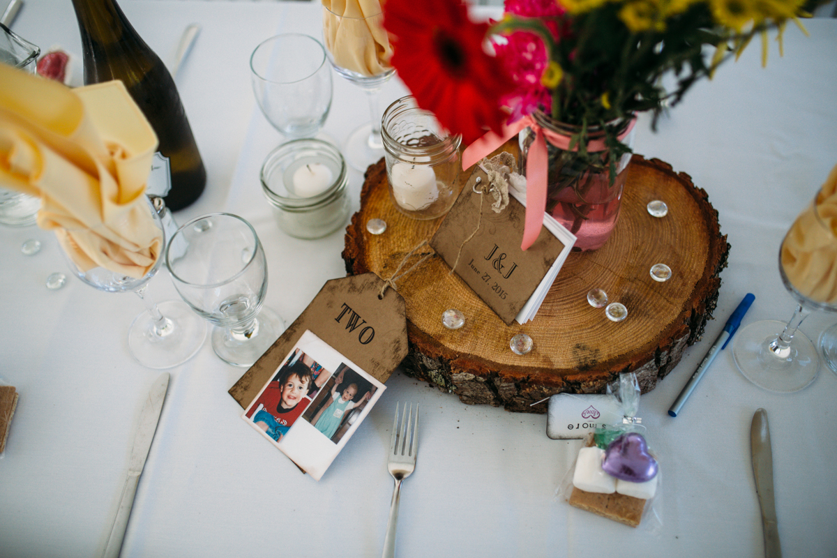 The Reception Table decorations The Guild King Francis Park Forest Wedding Vancouver Island