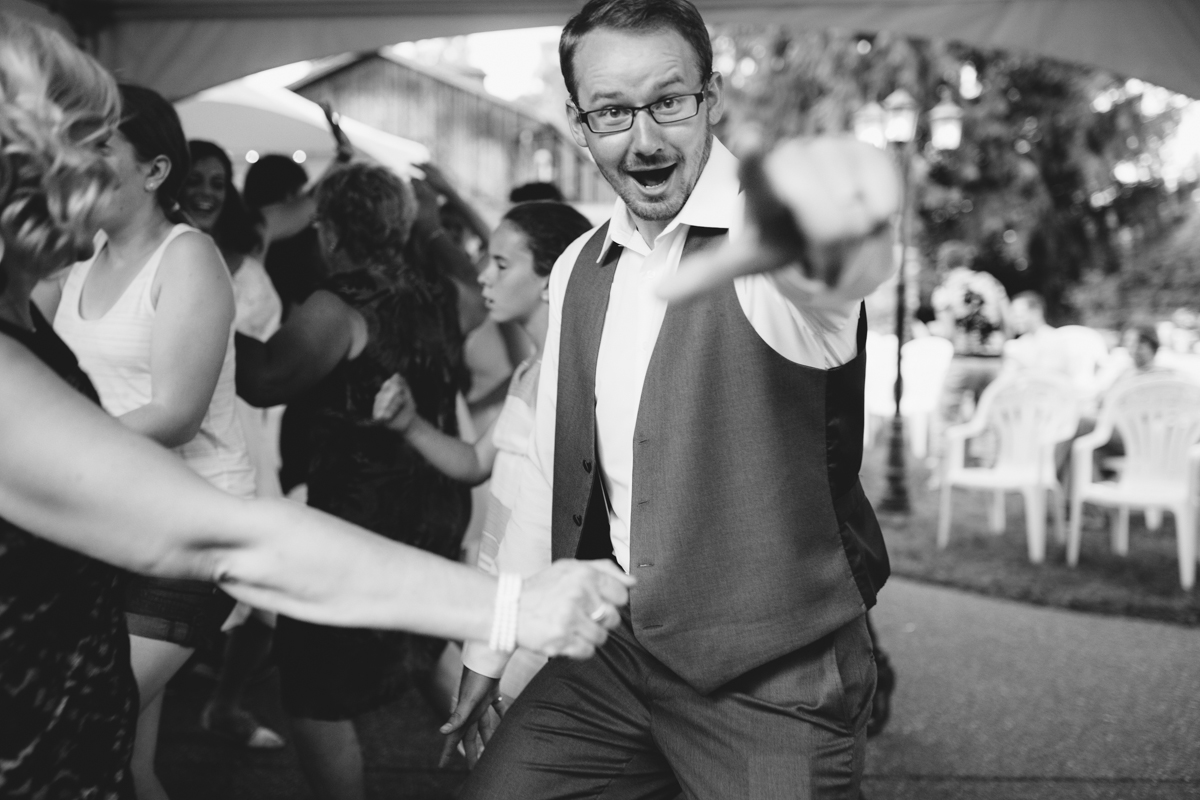 A couple dancing in the wedding reception The Guild King Francis Park Forest Wedding Vancouver Island