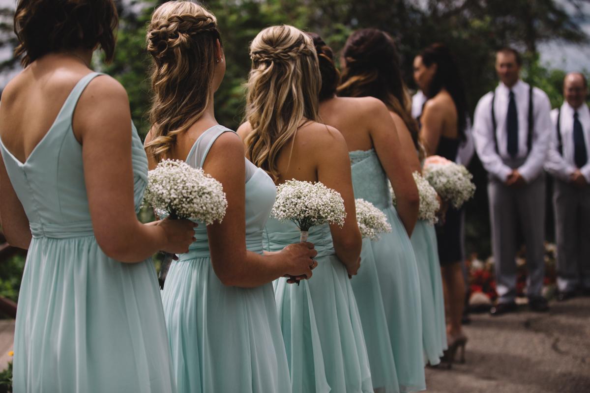 Bride's Maids Provincial Park wedding Clear Lake Manitoba