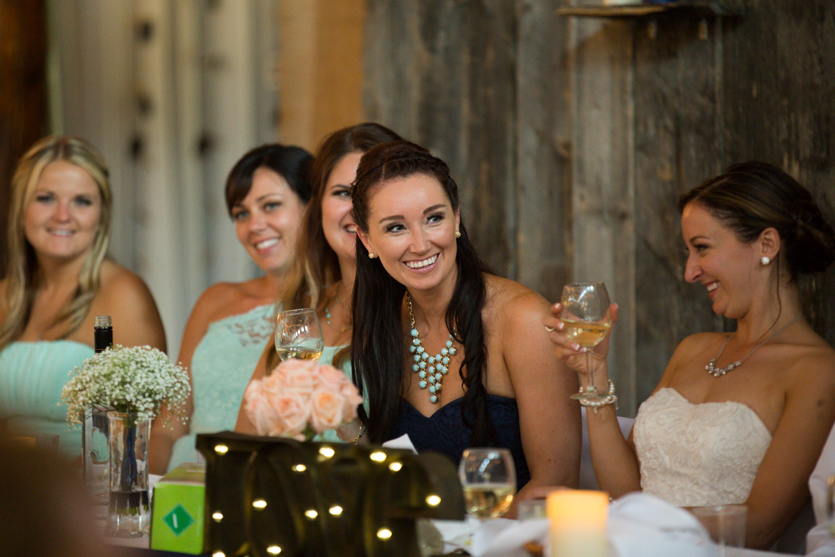 Maid of Honor Green Motif Wedding Reception with the Bride Provincial Park wedding Clear Lake Manitoba