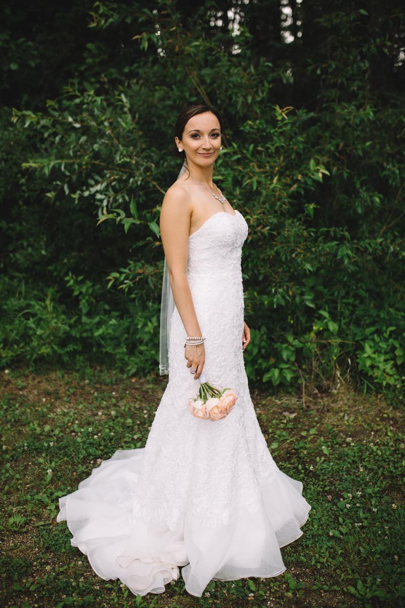 Bride at Provincial Park wedding Clear Lake Manitoba