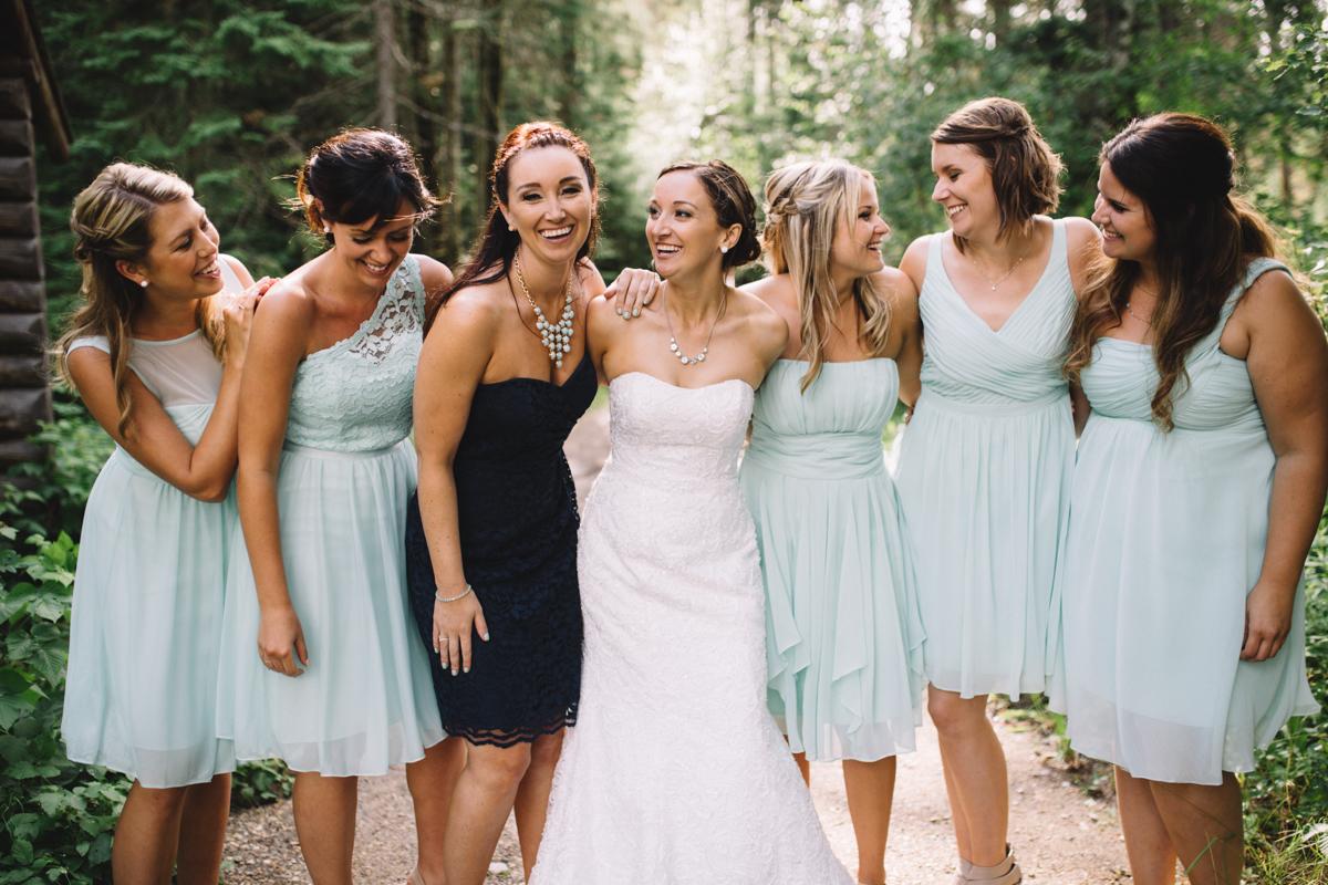 Bride's main, Maid of Honor and Bride Provincial Park wedding Clear Lake Manitoba