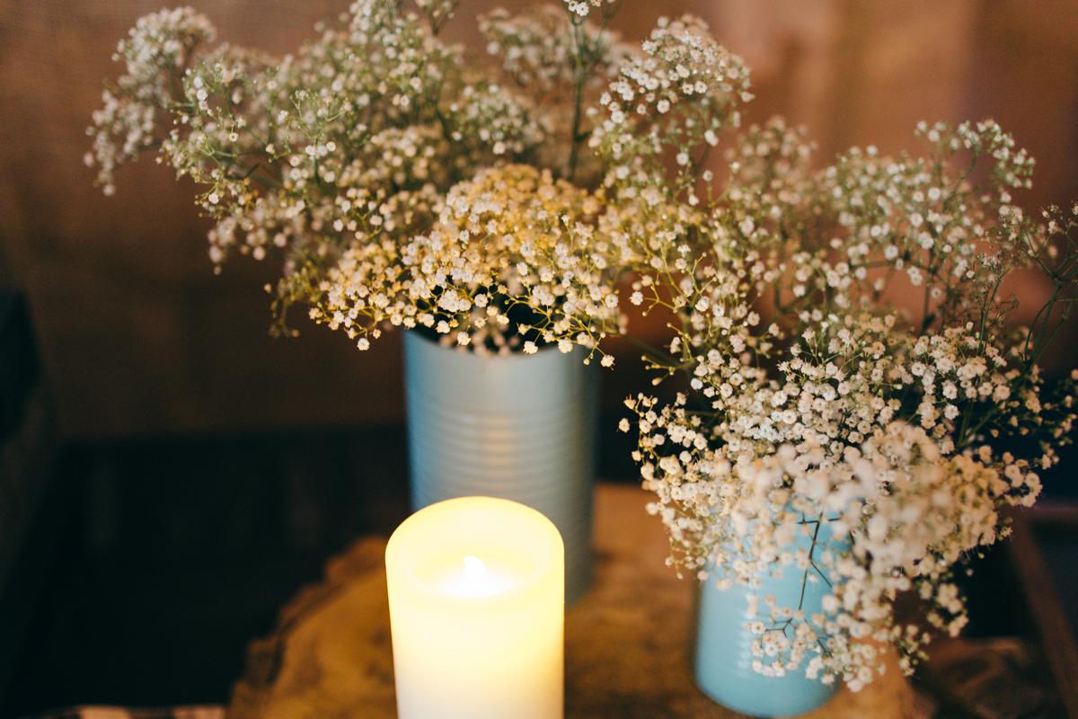 Flower arrangement Wedding reception Provincial Park wedding Clear Lake Manitoba