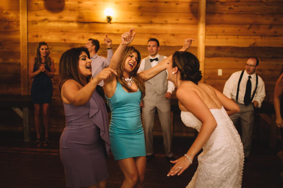 The bride dancing wedding reception Clear Lake Manitoba