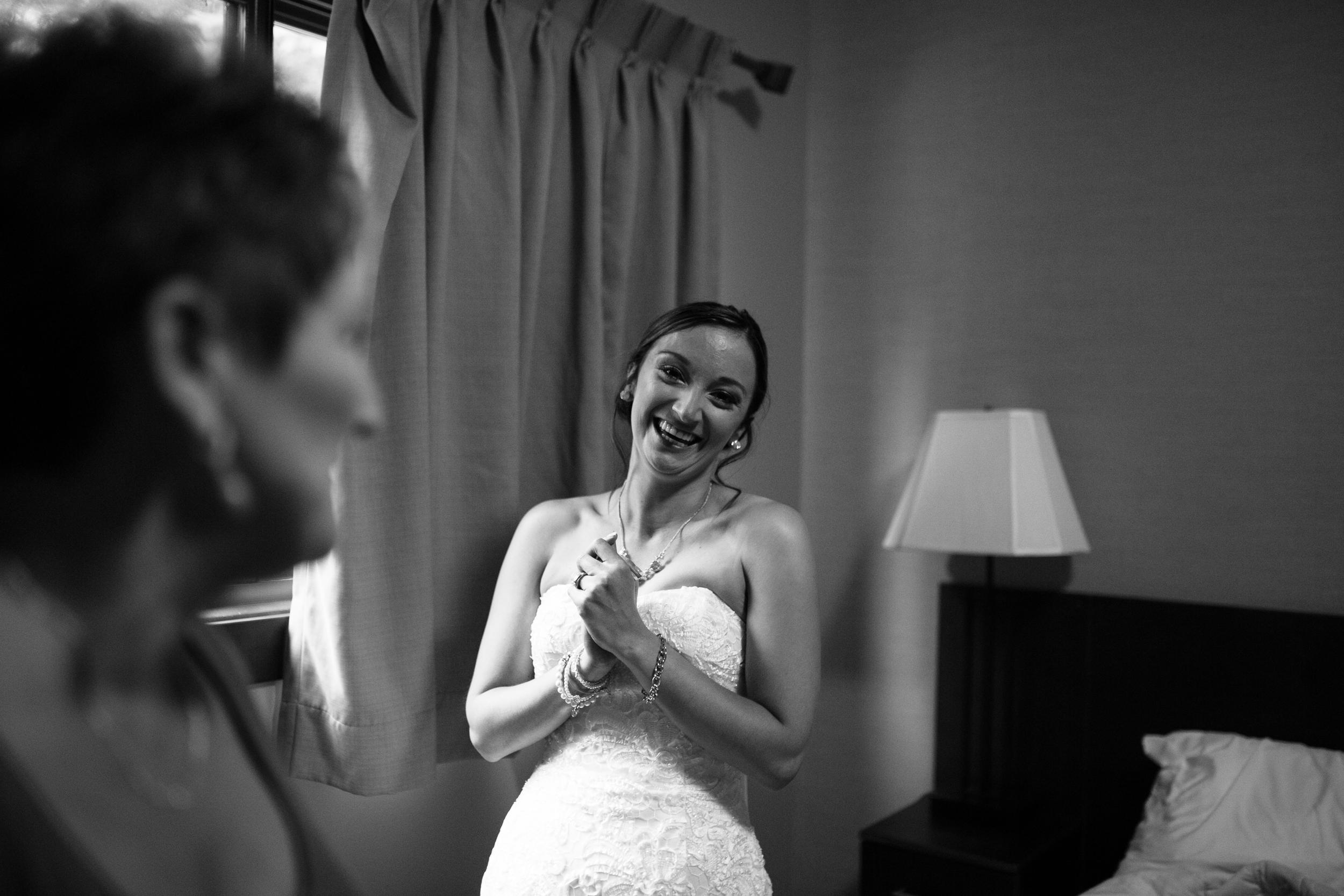 Happy Bride Clear Lake Manitoba wedding Victoria