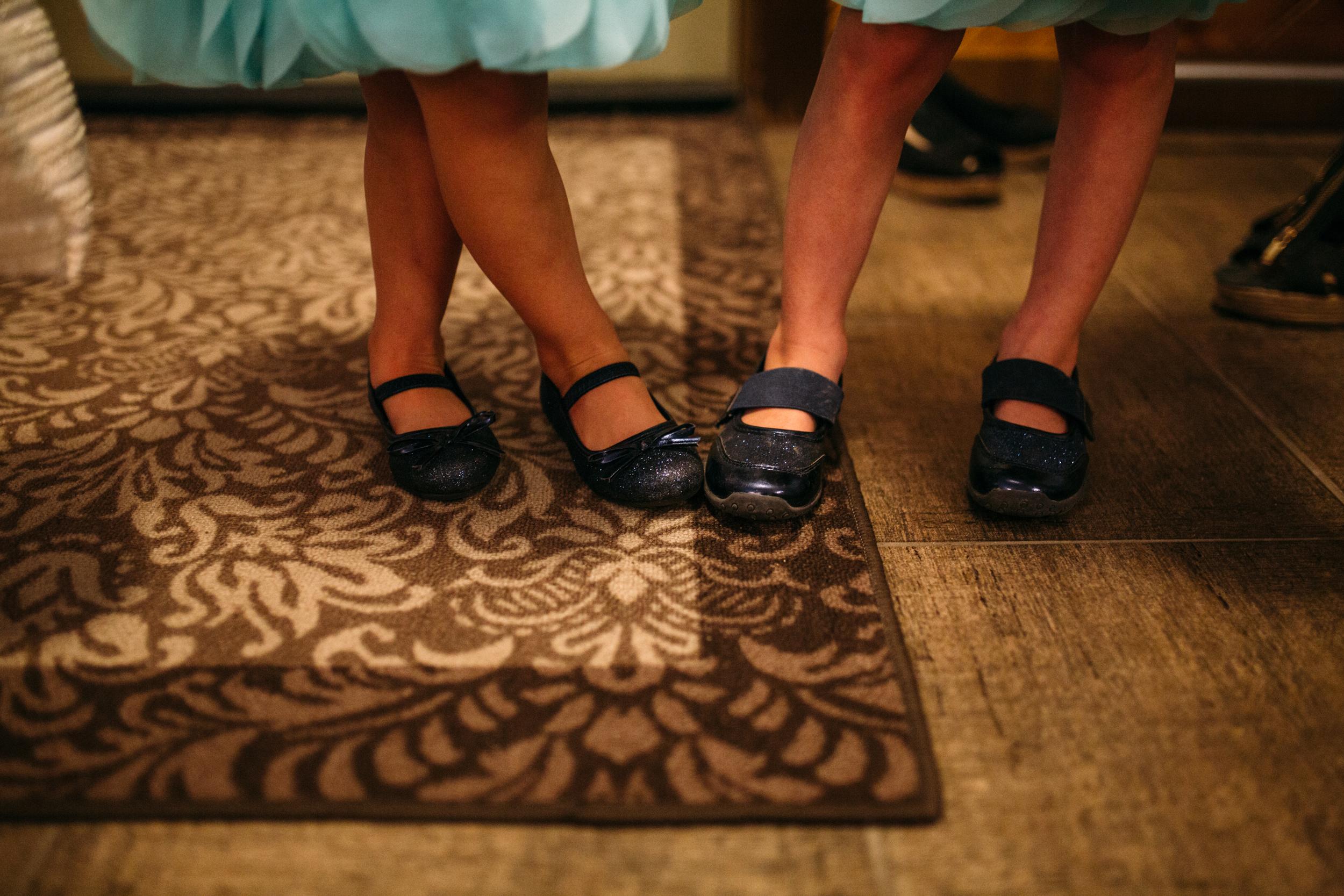 Bridesmaid shoes Clear Lake Manitoba wedding