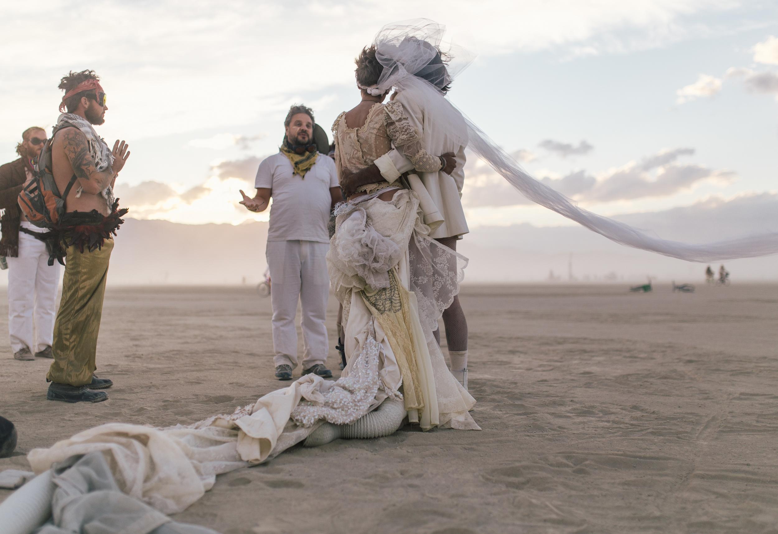 Adventure wedding photographer - Burning Man weddings