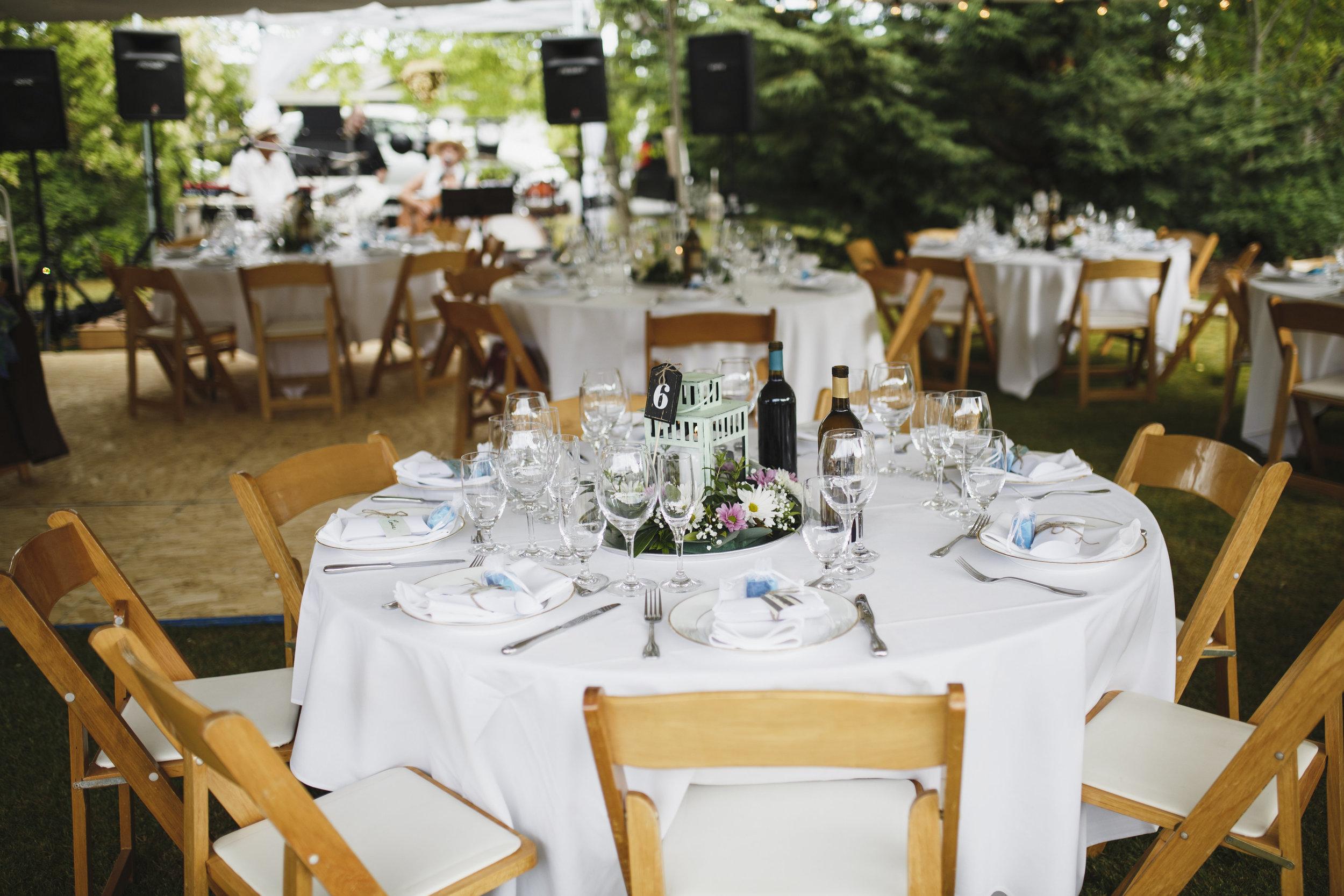 The table arrangement Beach wedding Tofino Sea Cider Vancouver Island