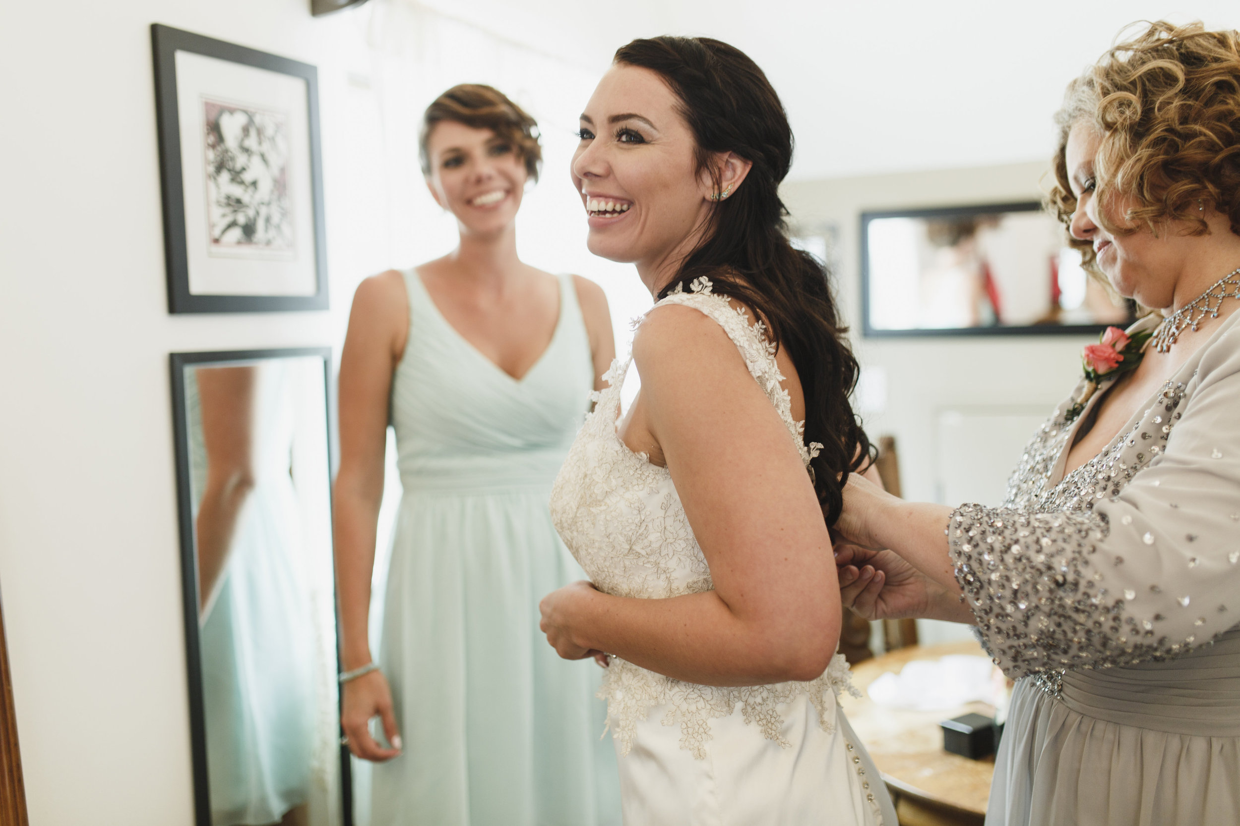 Bride gets ready for her wedding
