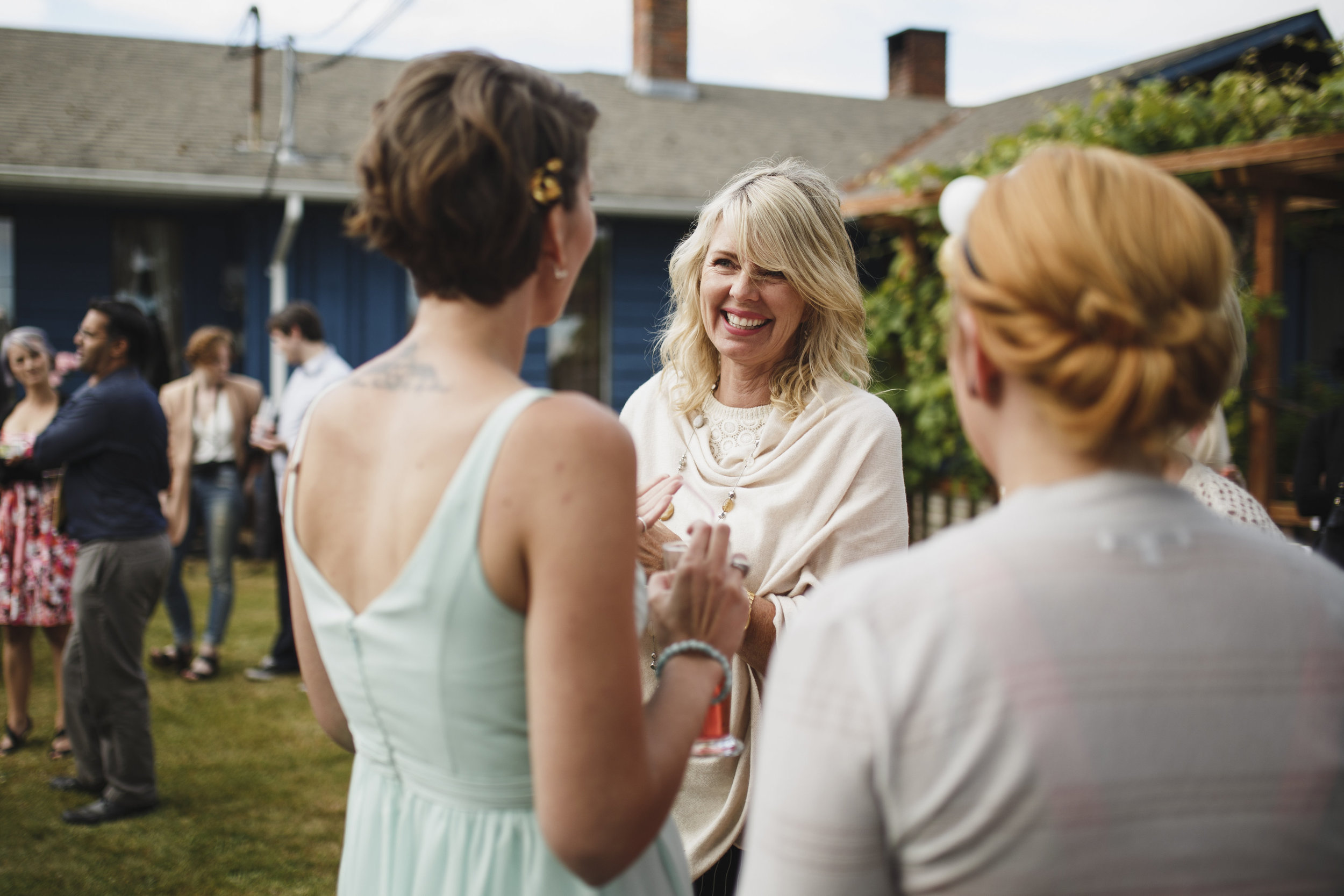 Smiles are everywhere Beach wedding Tofino Sea Cider Reception Vancouver Island