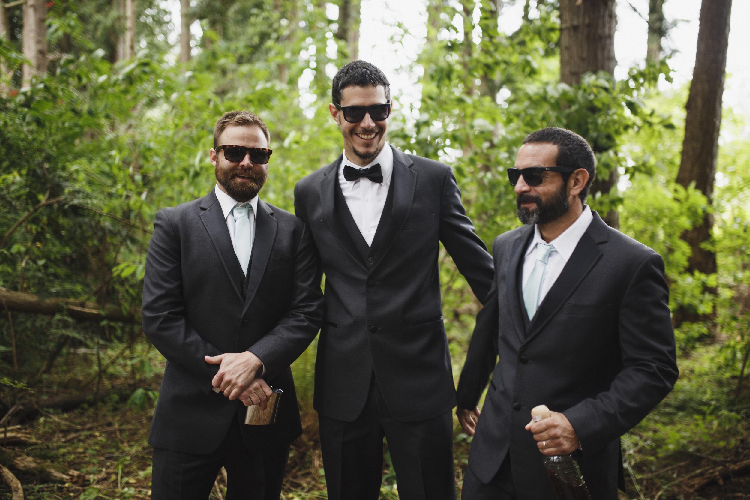 Groomsmen Forest wedding Tofino Sea Cider Vancouver Island