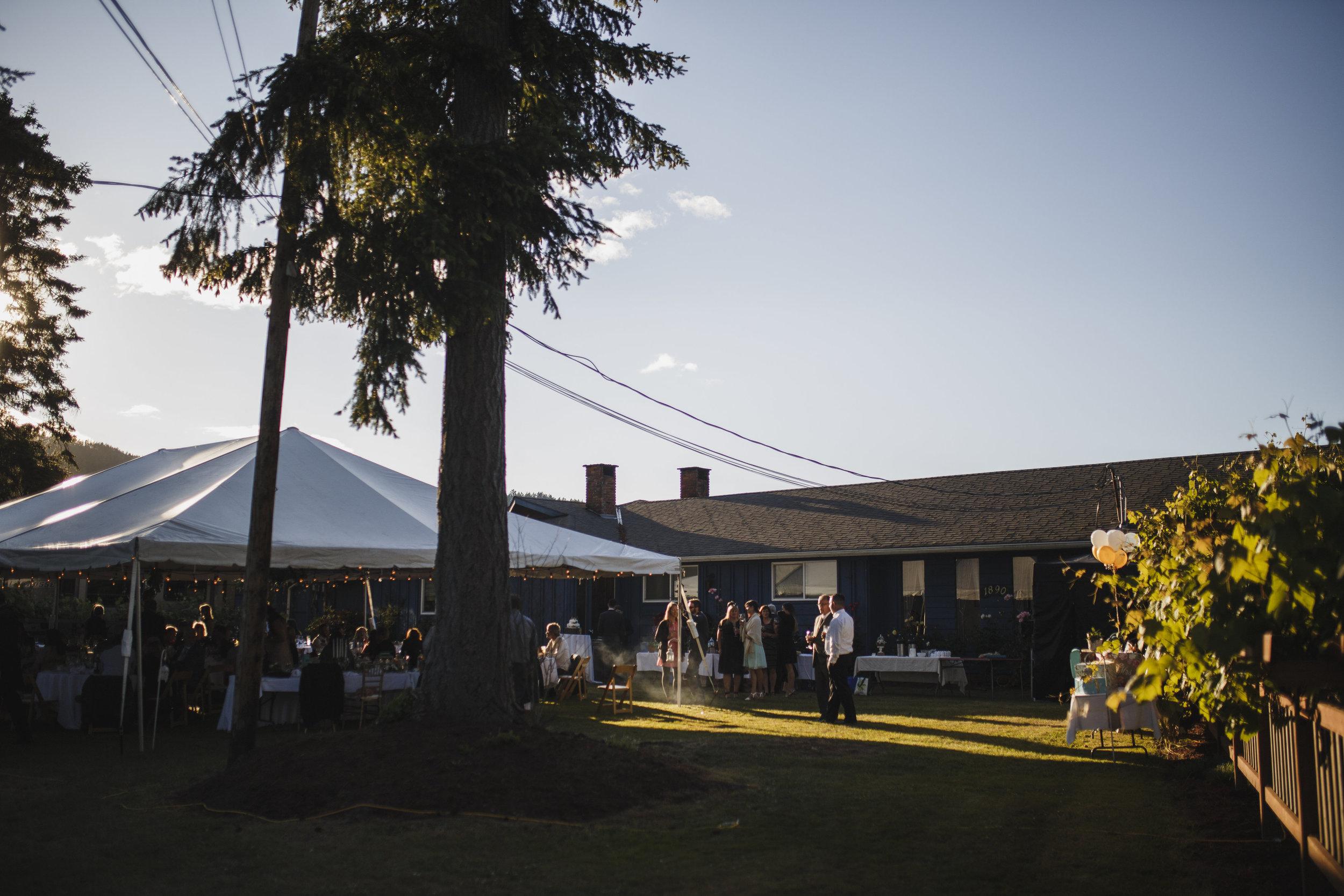 The reception hall Beach wedding Tofino Sea Cider Vancouver Island