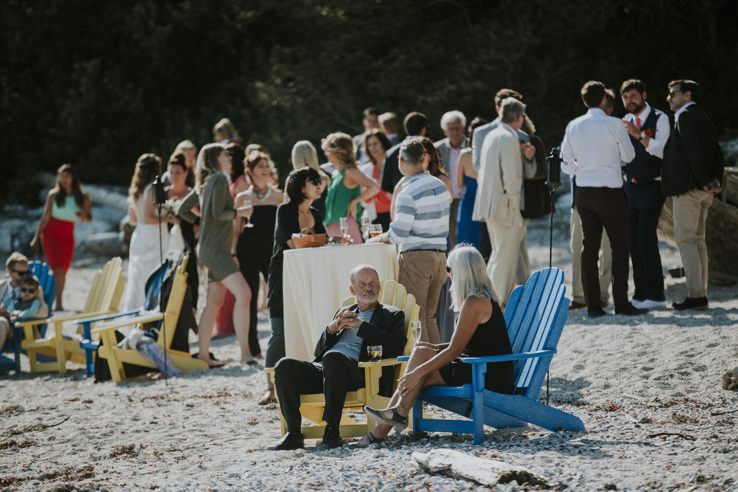 cocktail hour on seashell beach wickaninnish inn