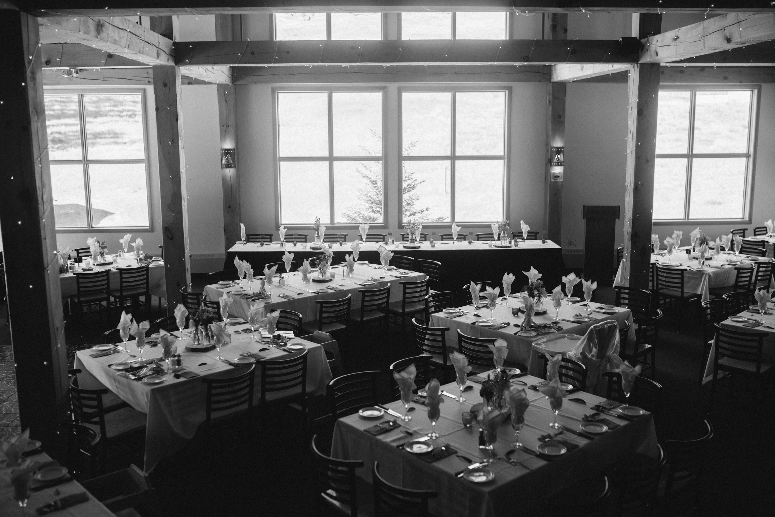 reception setup mt norquay banff