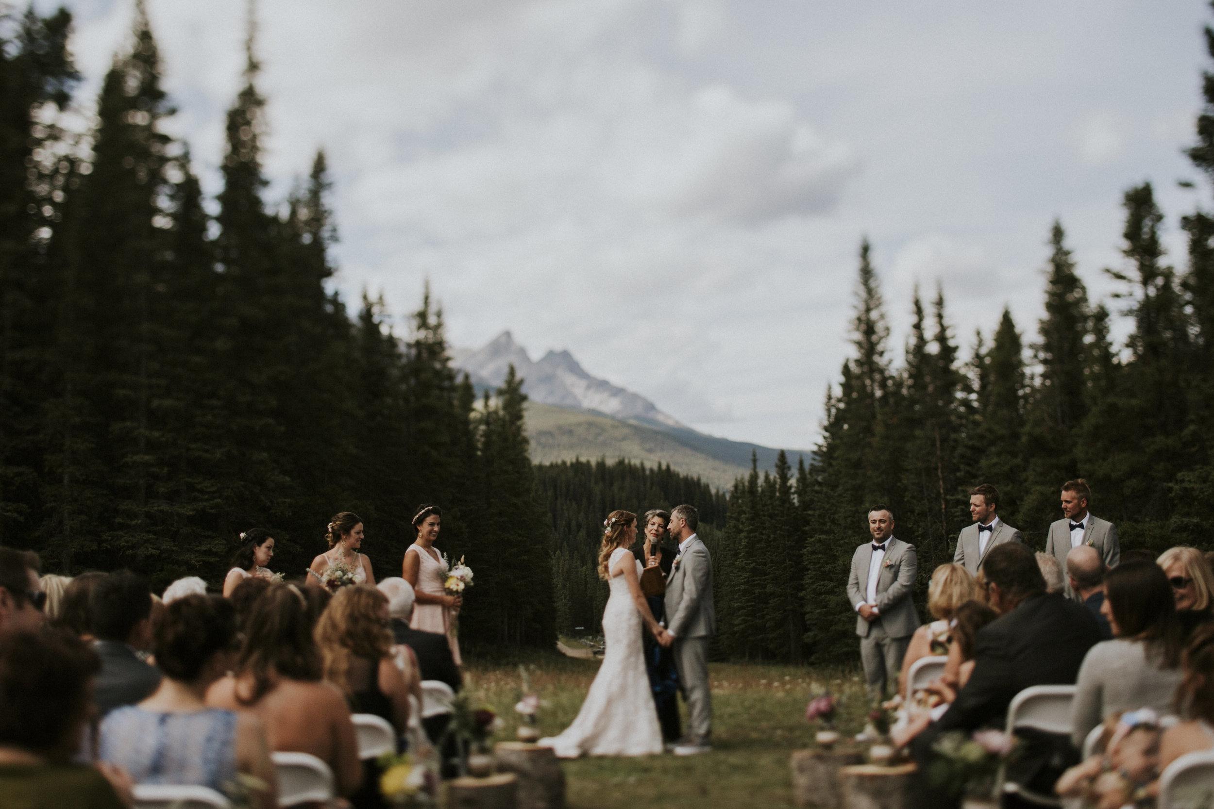 mt norquay wedding couple ceremony