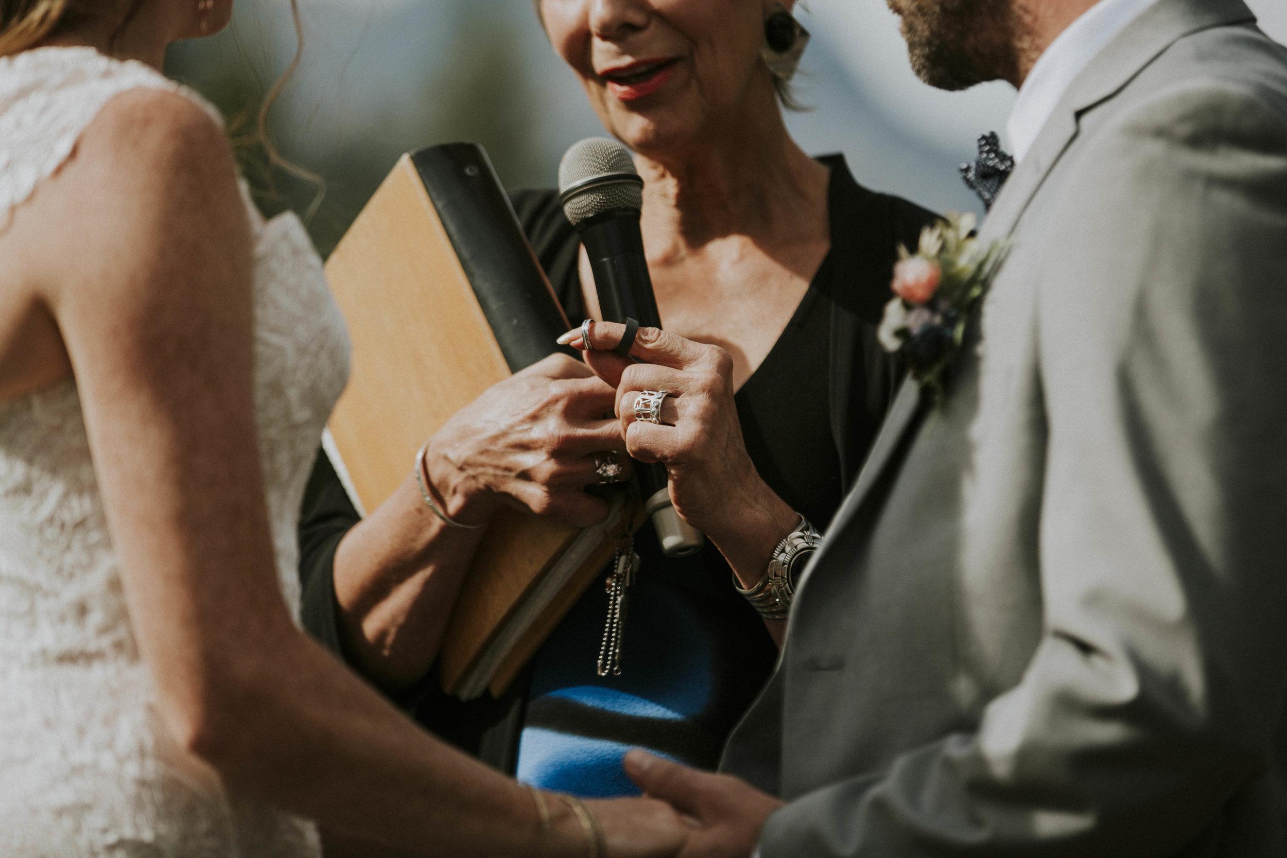 wedding rings get blessed mt norquay wedding banff
