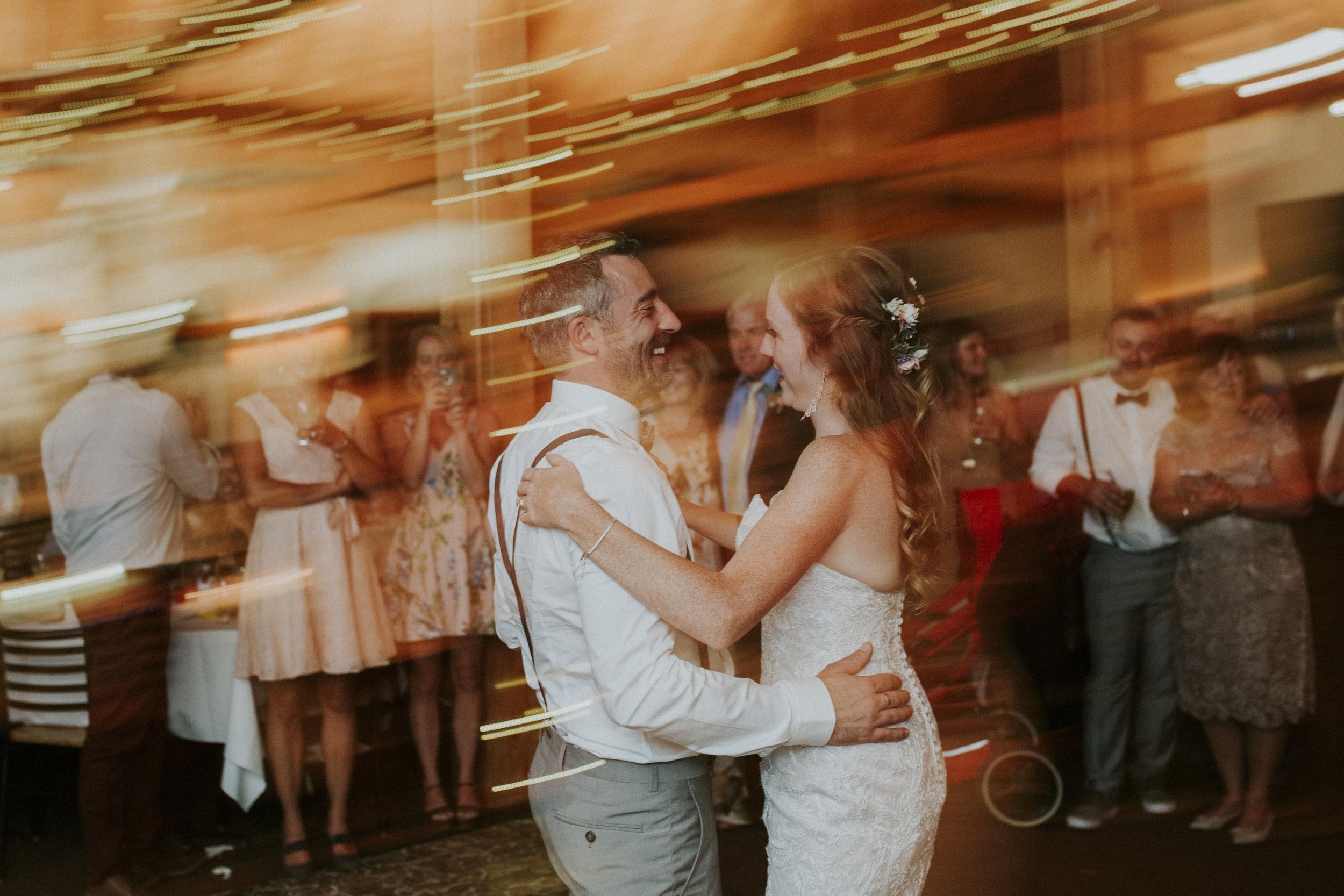 couples first dance mt norquay wedding reception banff