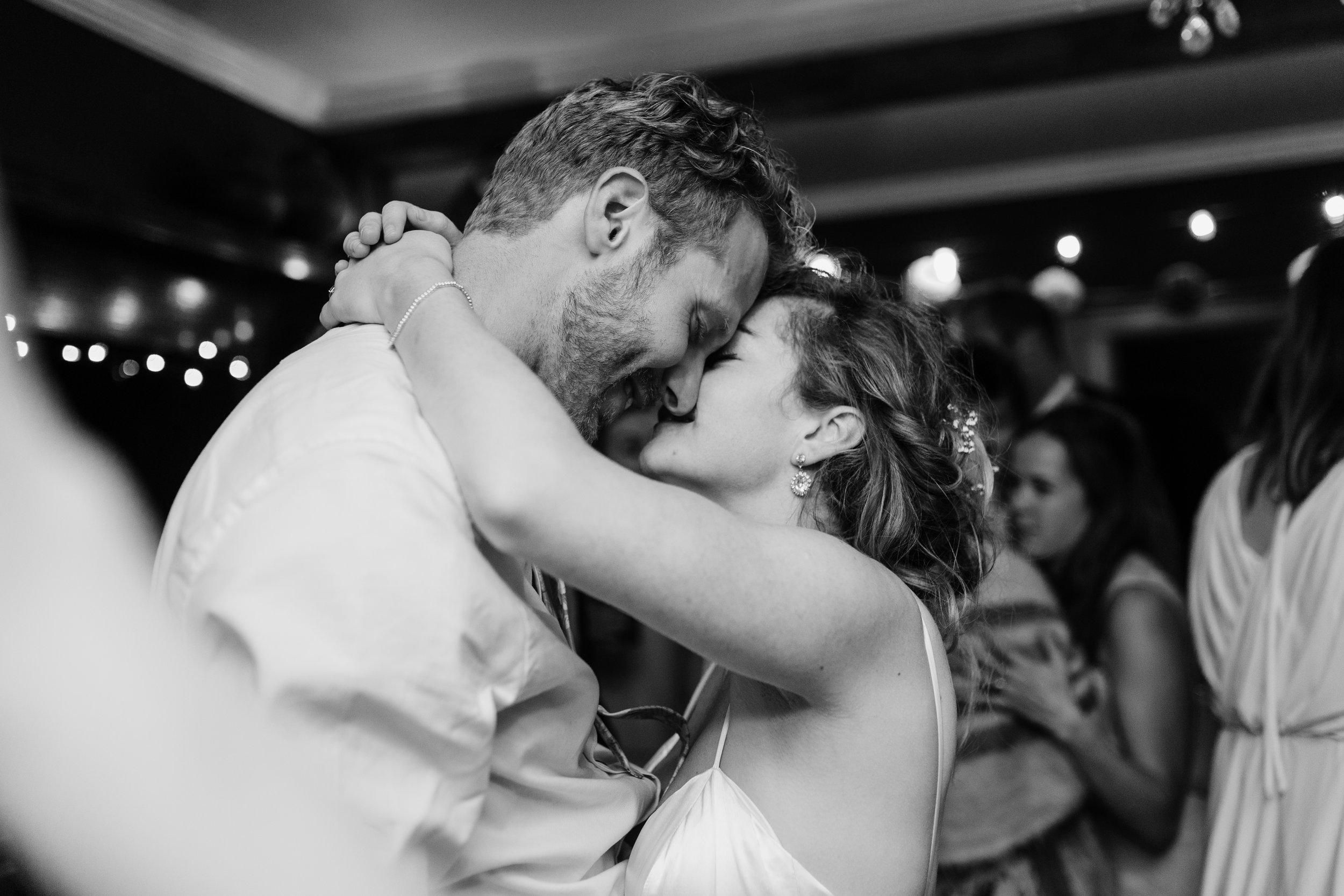married couple enjoys first dance backyard wedding, Victoria, Vancouver Island