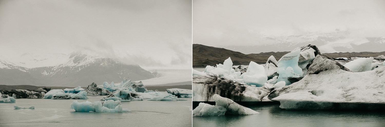 icebergs at Jokulsarlon Glacier Lagoon