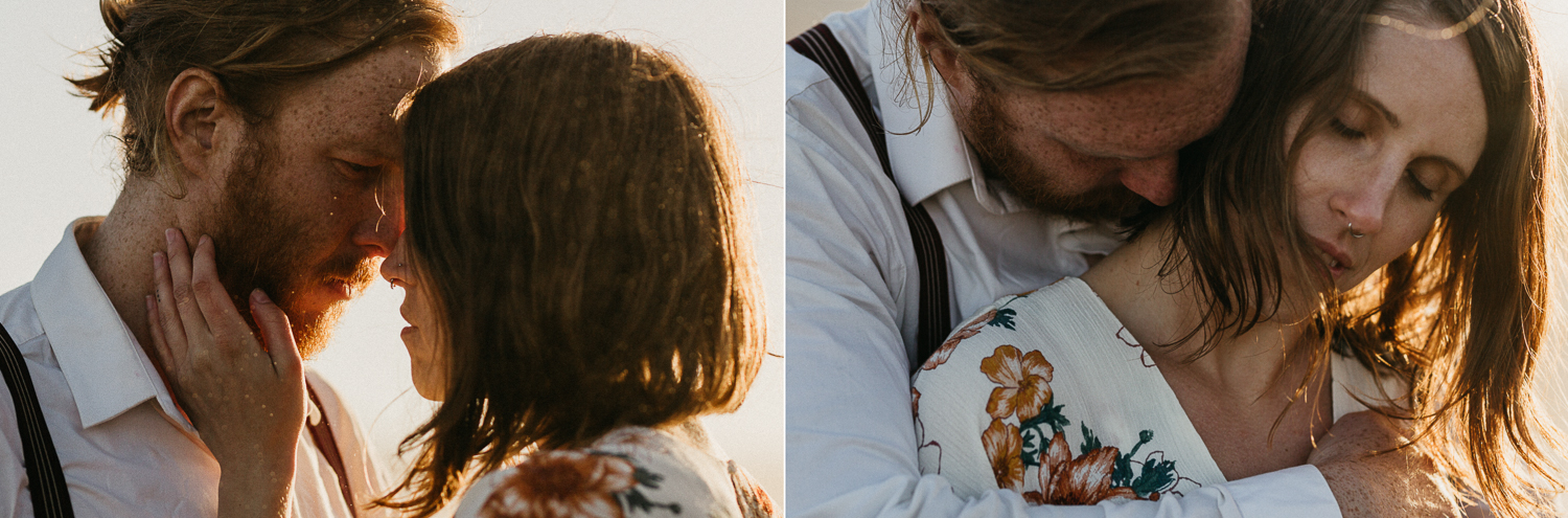 portraits of couple eloping at godafoss waterfall iceland