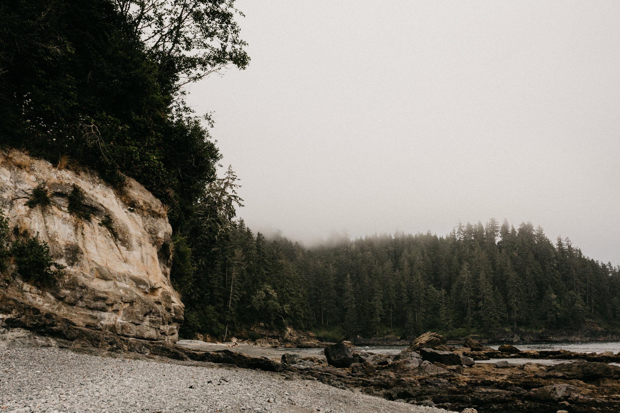 Adventure wedding elopement Sombrio Beach Vancouver Island