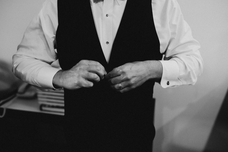 Groom getting ready Galiano Inn Wedding