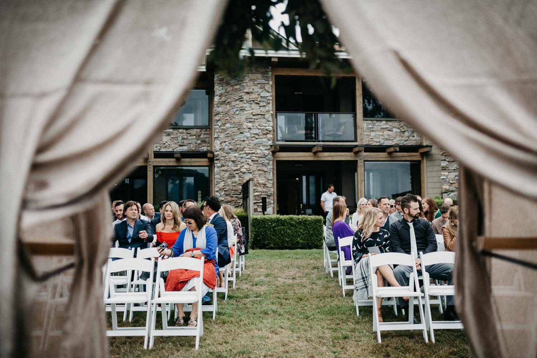 beach ceremony Galiano Inn Wedding
