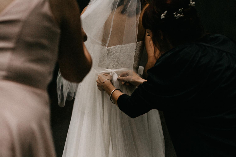 Wedding dress Galiano Island Wedding