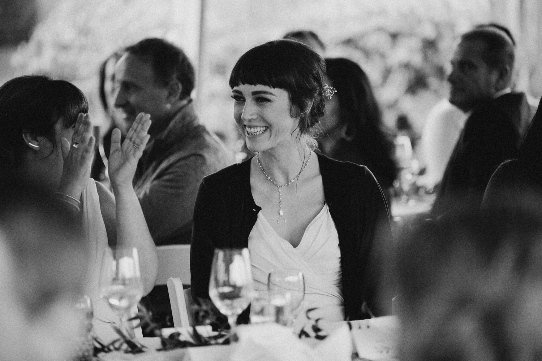Guest enjoying at the wedding reception Galiano Inn