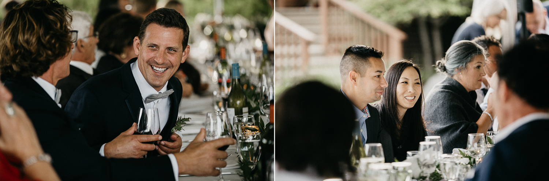 Guests at wedding reception Galiano Inn Wedding