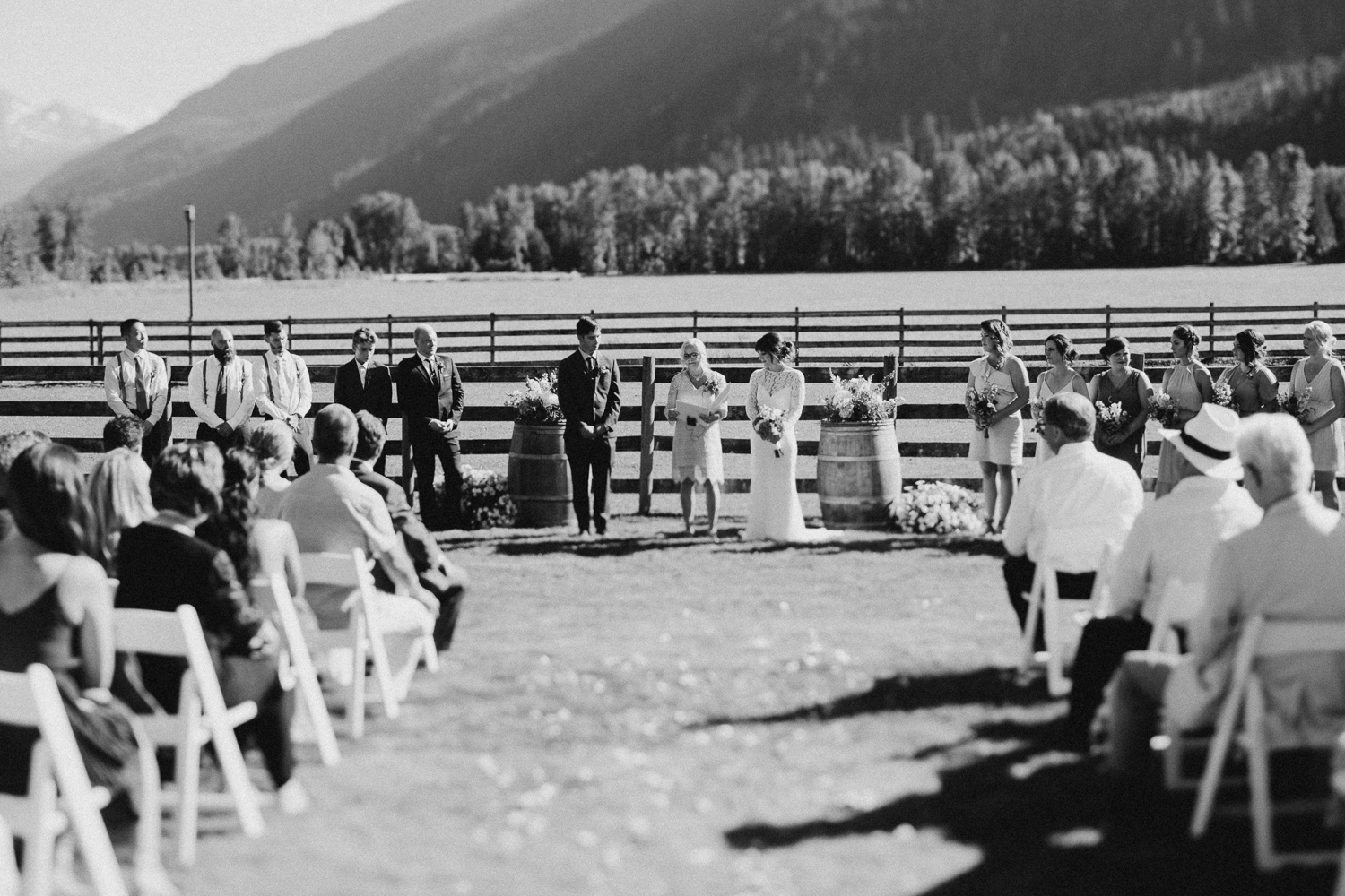 Farm wedding ceremony site Pemberton Valley
