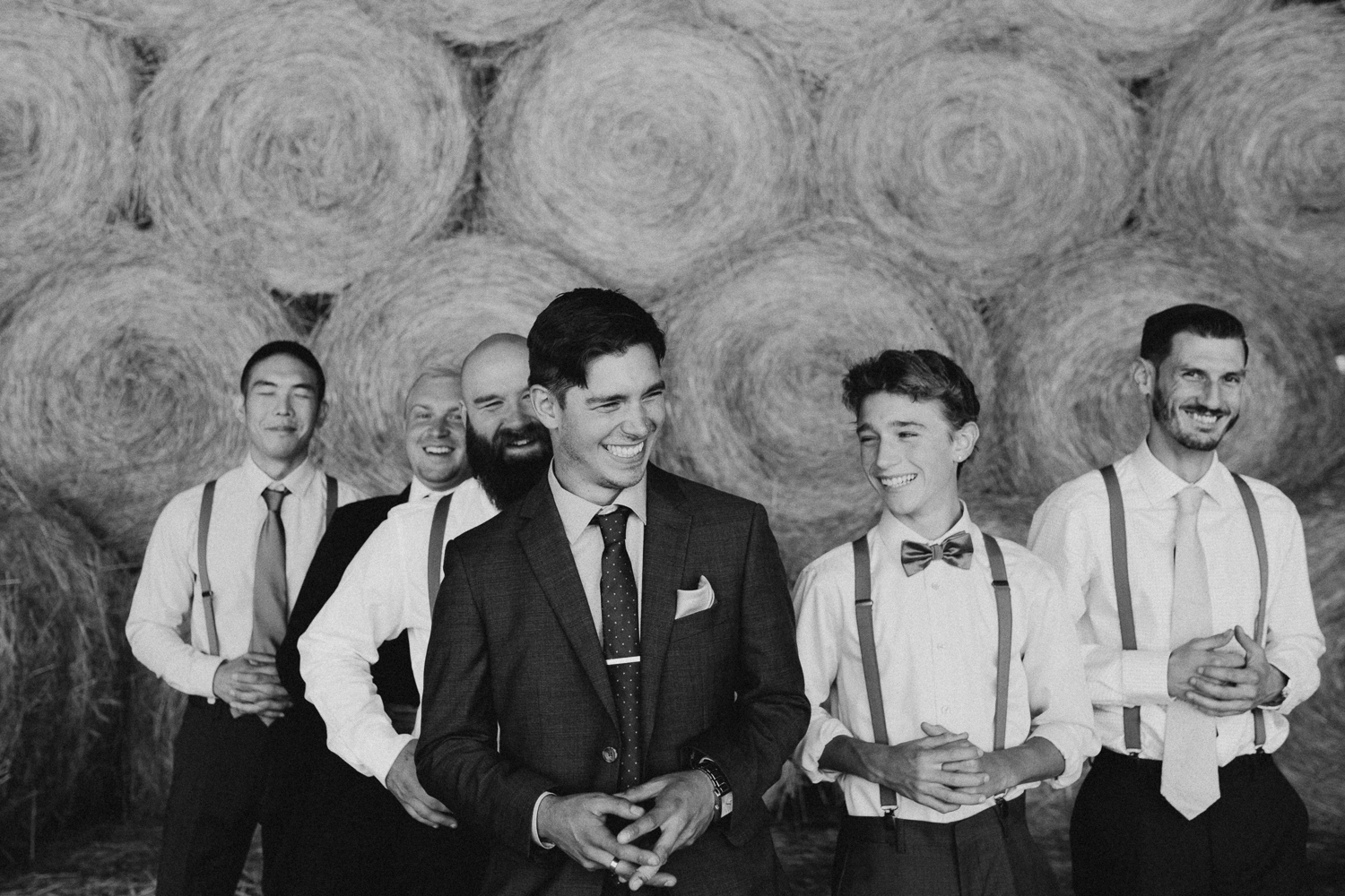 groom and groomsmen Pemberton Farm wedding
