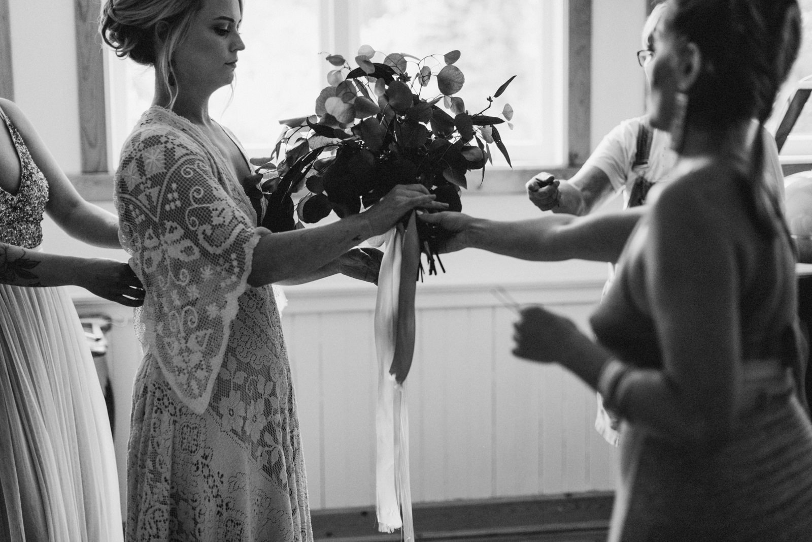 bride with bouquet victoria wedding photographer