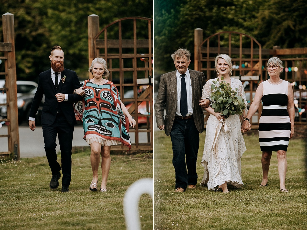 processional at garden victoria wedding photographer