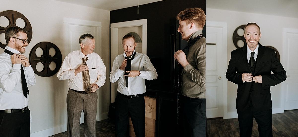 groom gets ready vancouver island wedding photographer