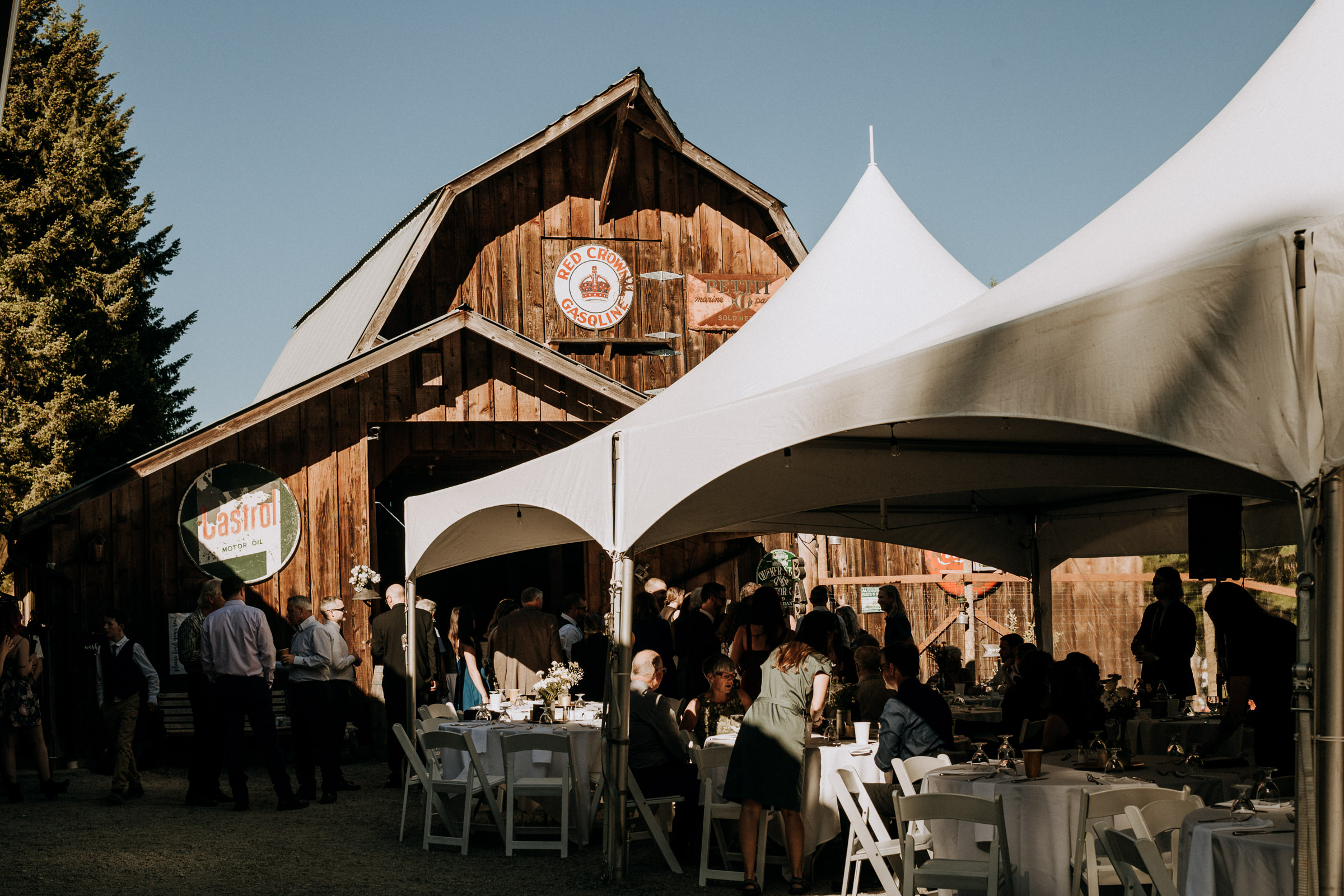 farm wedding reception at cobble hill vancouver island wedding photographer