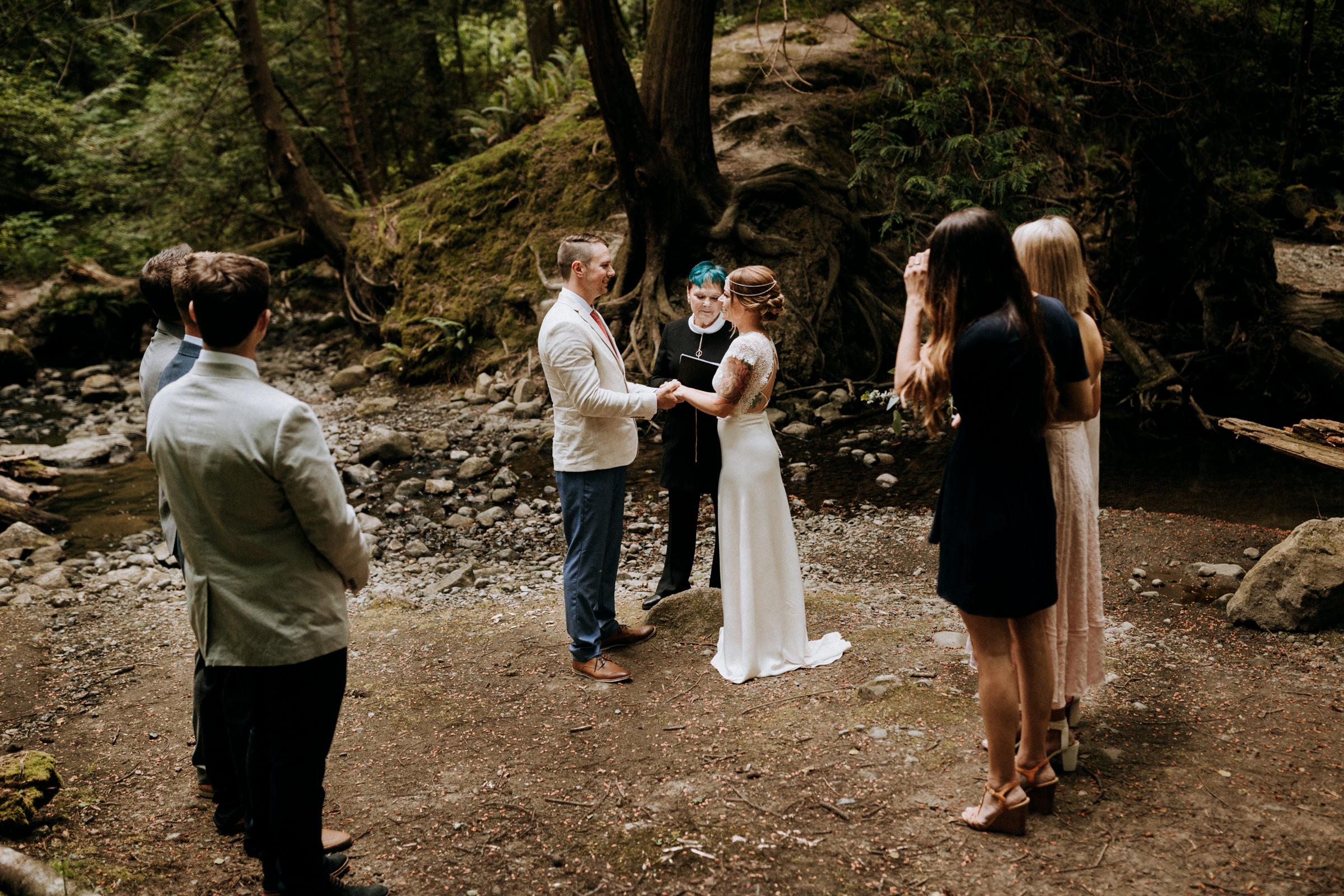 elopement wedding ceremony site mount douglas Vancouver Island Elopement Photographer