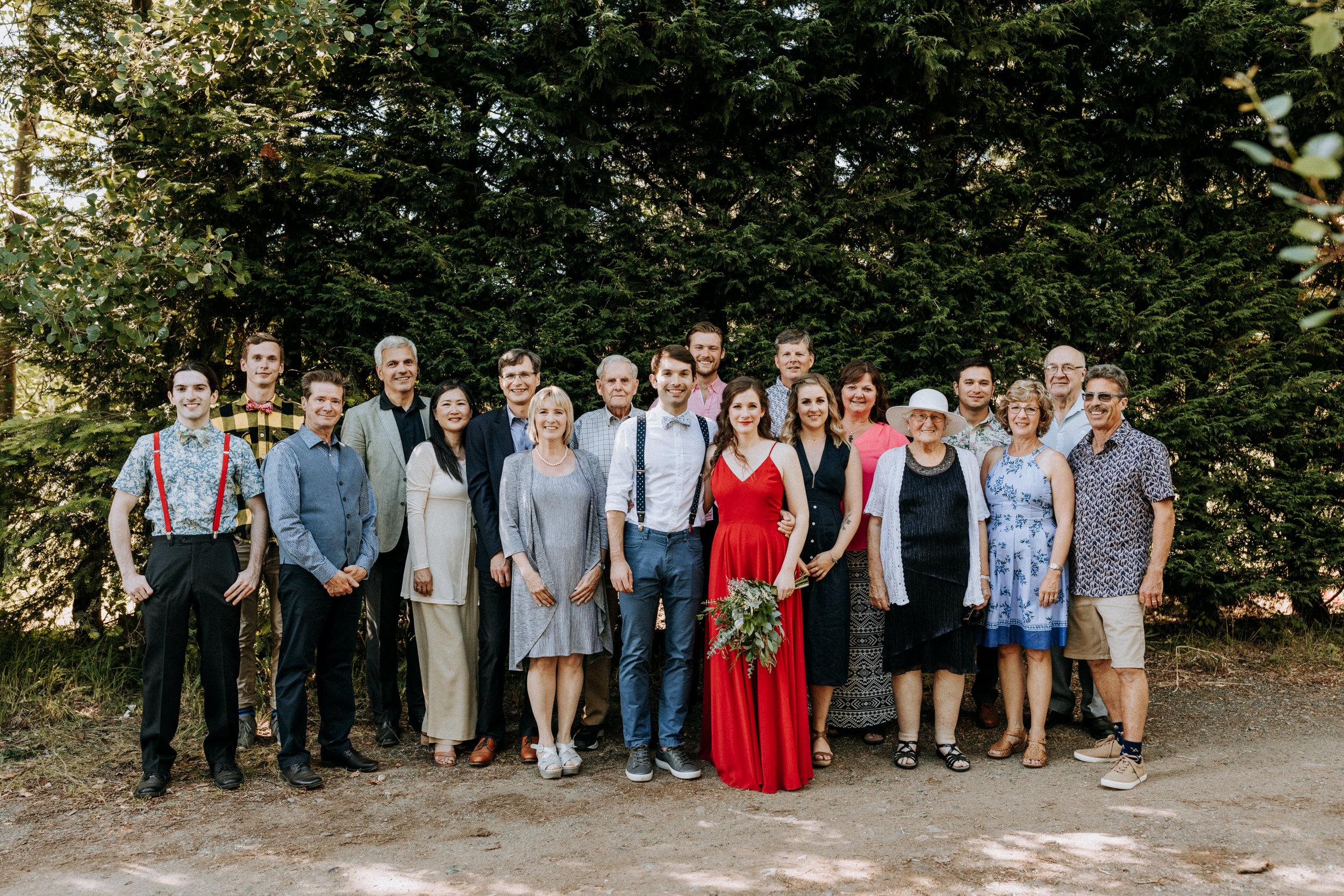 family formals group photo Courtenay Wedding Photographer