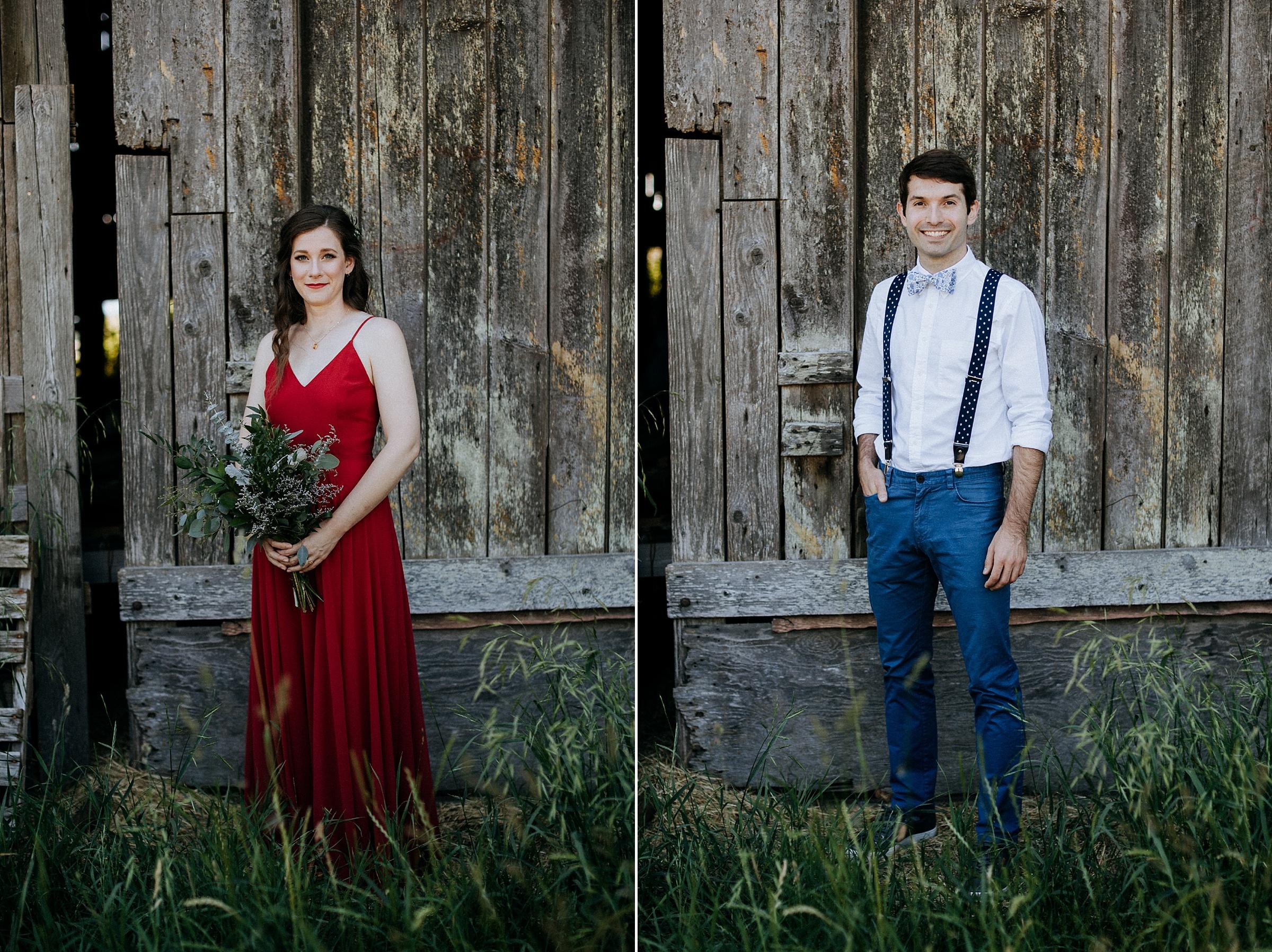 Bride and groom portraits Courtenay Wedding Photographer