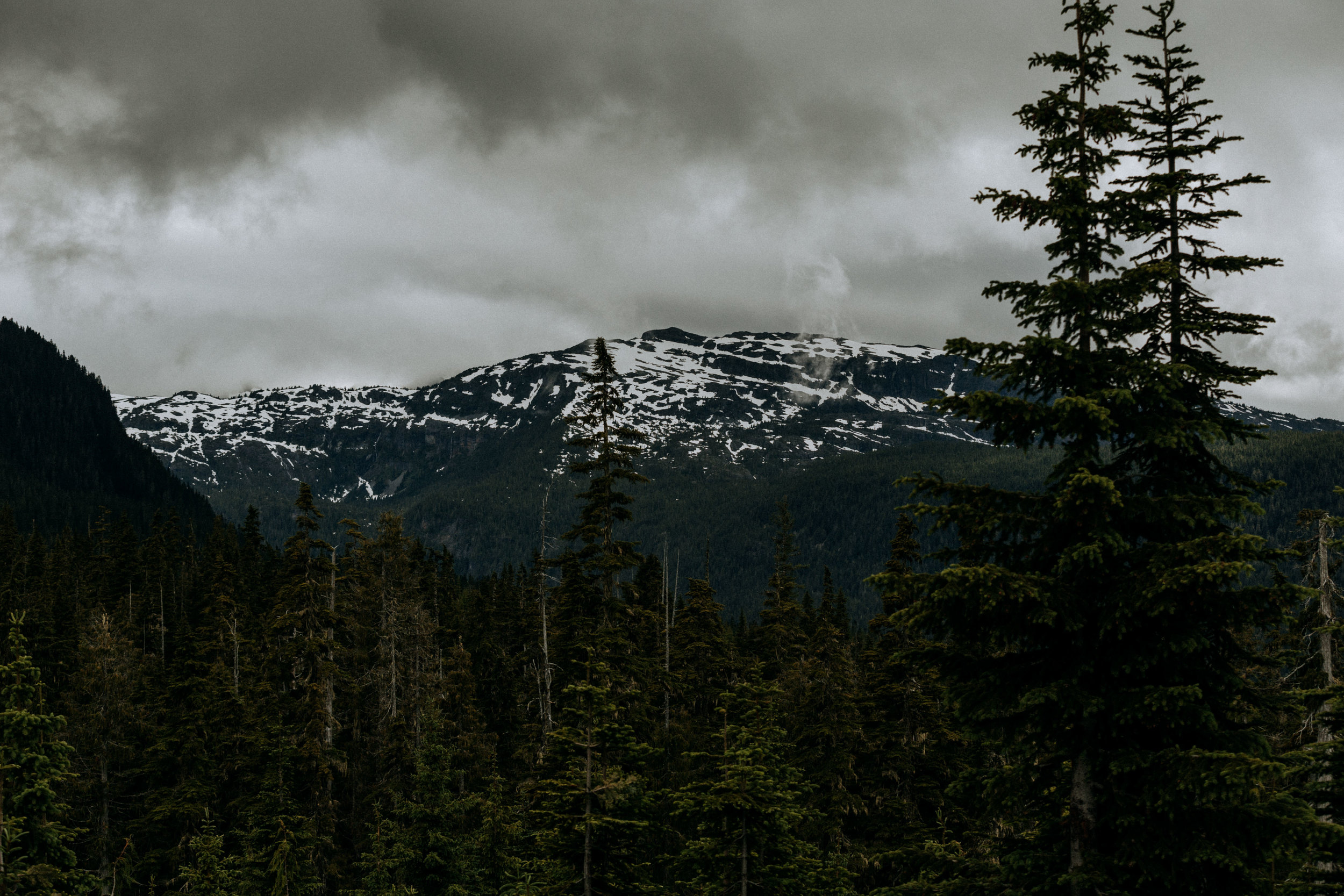 cloudy landscape at Mount Washington wedding photographer