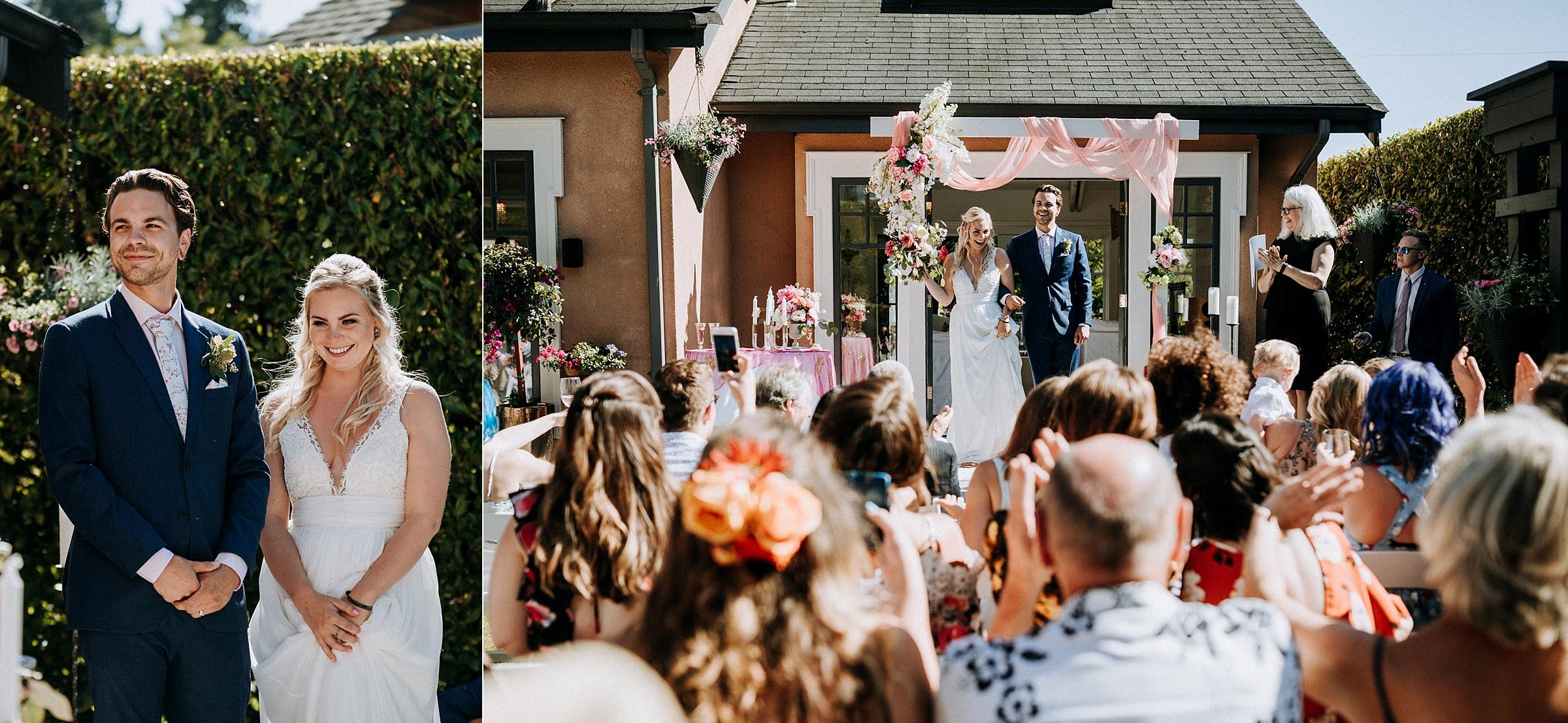 ceremonyWest Vancouver backyard wedding photographer