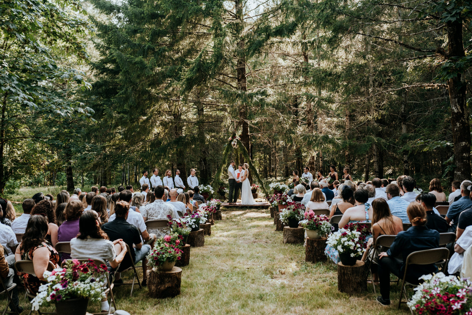 forest ceremony in Port Alberni wedding Photographer