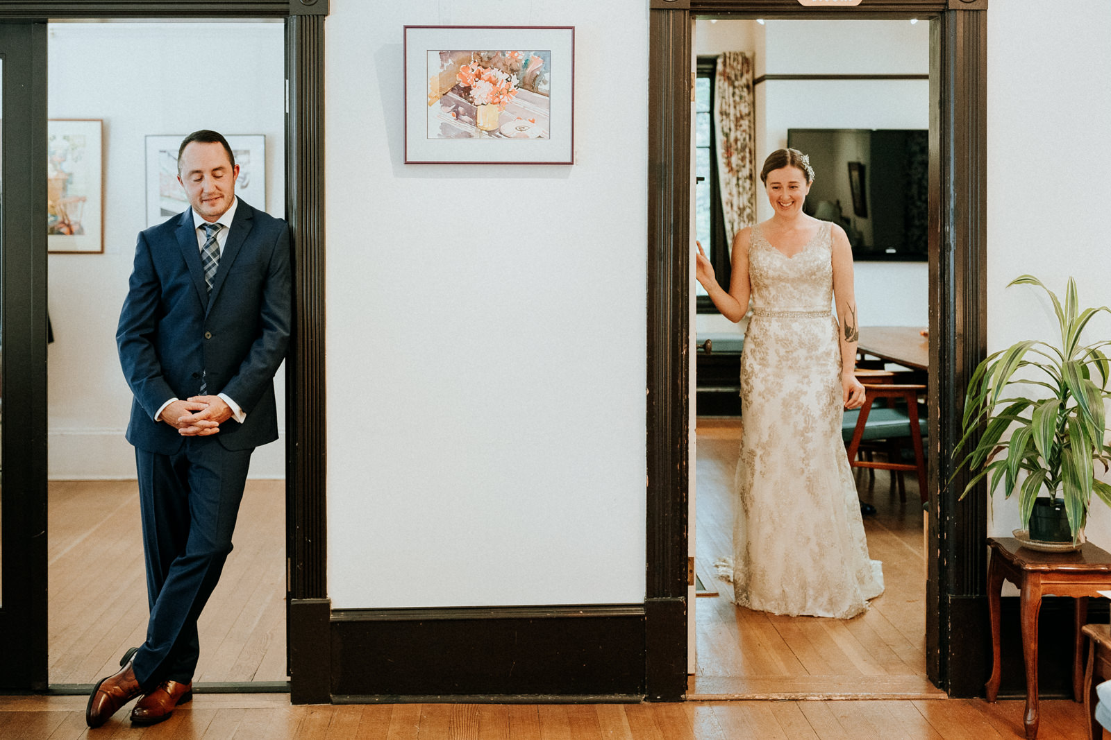 first look at Gower House intimate Victoria wedding photographer