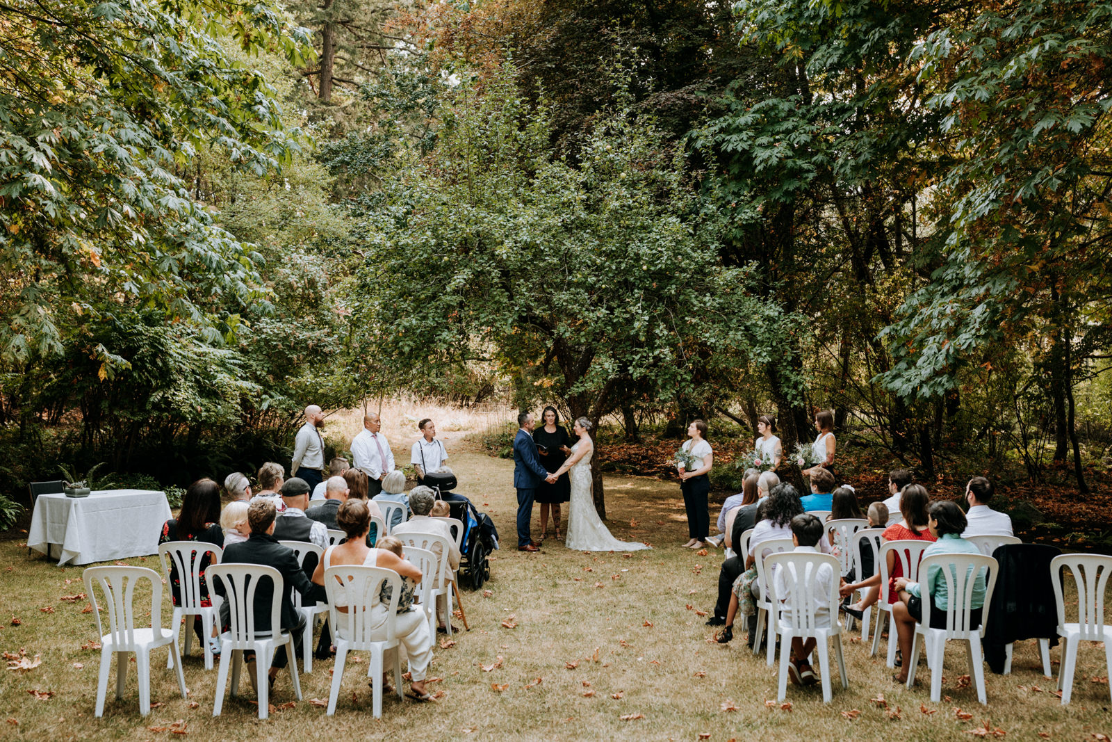 Gower House wedding ceremony, Victoria BC